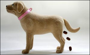 Pooping barbie dog